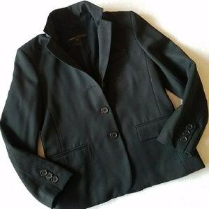 Marc Jacobs blazer bkack preppy pop up collar 4